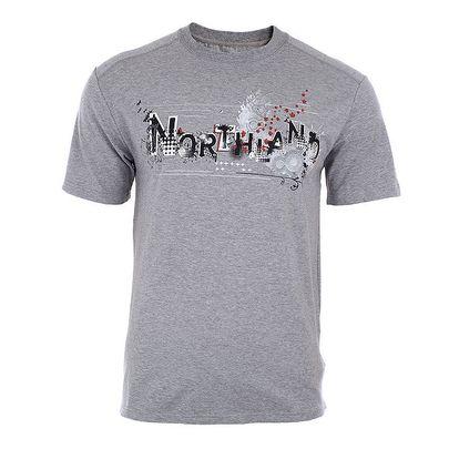Pánské šedé tričko z bambusu a organické bavlny Northland Professional