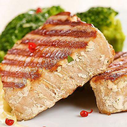 2x steak z tuňáka s přílohou v pražské Pizzerii Cappuccini