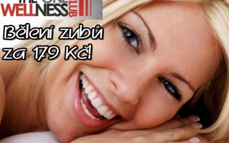 Nejlevnější BEZPEROXIDOVÉ BĚLENÍ ZUBŮ od profesionálů! Zářivě bílé zuby jen za 179 Kč šetrnou a bezbolestnou metodou! Po ošetření přístrojem Whiten LED budou vaše zuby bělejší o 2 až 8 odstínů! Oblíbené luxusní studio The One Wellness Club v Brně!!!