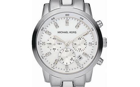 Unisexové hodinky ve stříbrné barvě s chronografem a datumovkou Michael Kors