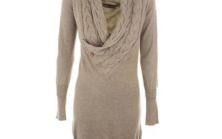 Dámské béžové úpletové šaty Emoi