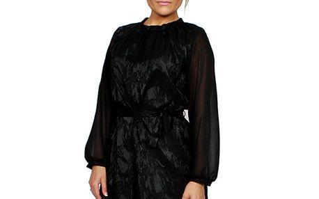 Dámské černé brokátové šaty Andrea G Design