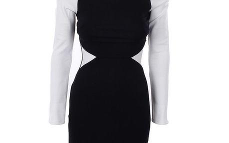 Dámské černo-bílé šaty Estella