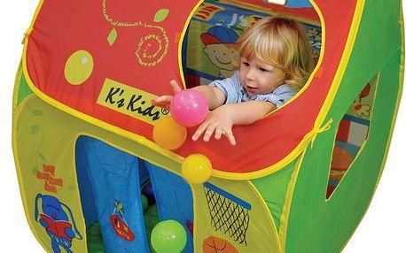 Dětský stan s plastovými míčky K's Kids KA10506
