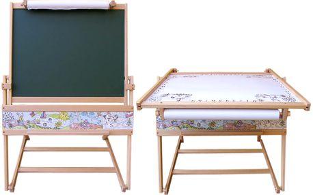 Dřevěná tabule (magnetická) a stolek 71001M