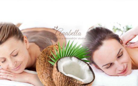 Úžasná ČOKOLÁDOVO-KOKOSOVÁ MASÁŽ! 90 nebo 120min. královská masáž plná péče a regenerace od 269 Kč! Čeká Vás masáž, peeling, zábal i výživa pokožky!