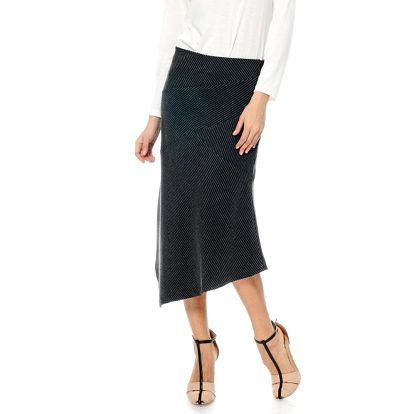 Dámská černá sukně s pruhy ODM Fashion