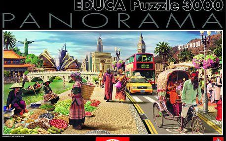 Puzzle Panoramatické Globální svět 3000 dílků