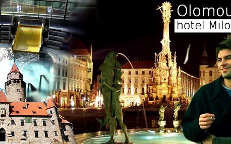 Víkendový pobyt pro 2 osoby na 3 dny v hotelu Milotel *** Olomouc s bohatou polopenzí a vstupy na hrad Bouzov, Štenberk, zámek Plumlov, Jánský vrch, do ZOO Olomouc, Arboreta Bílá Lhota, na vyhlídkovou plavbu historickým městem a další!