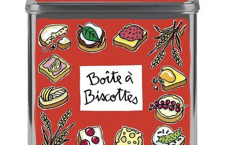 Dóza na sušenky Biscottes, rouge
