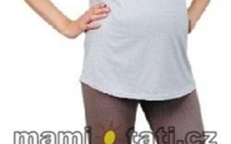 Těhotenské barevné legíny 3/4 délky - béžová vel. M