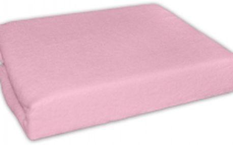 Froté prostěradlo - Růžové 120x60 cm
