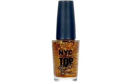 NYC New York Color Nail Polish Top Coat 9,7ml Lak na nehty W - Odstín 010 Top of the Gold