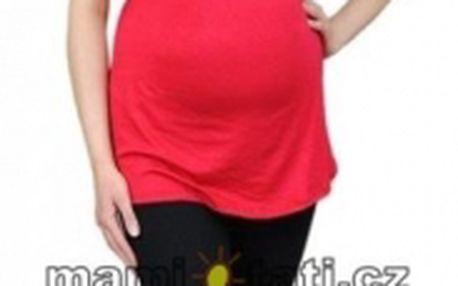 Těhotenské barevné legíny 3/4 délky - černá vel. M