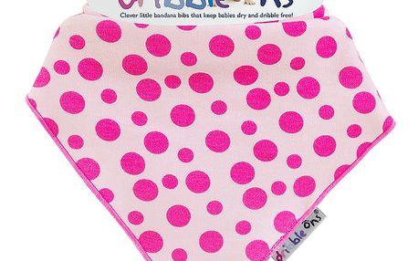 Dribble Ons - dětský šátek - bryndák - Pink Spot