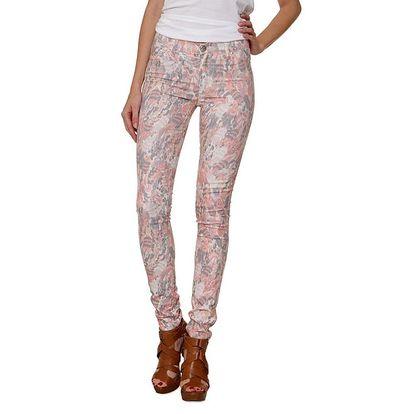 Dámské světlé kalhoty s barevným potiskem 2nd One