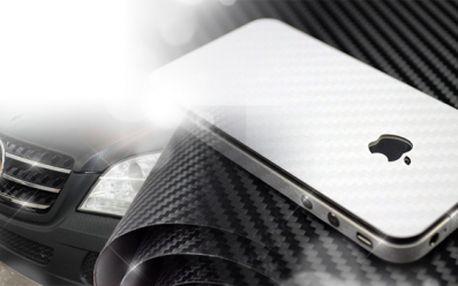 KARBONOVÁ VINYLOVÁ FOLIE na POLEP VOZU, MOBILU či NOTEBOOKU od 189 Kč! Super design a kvalita! Na výběr bílá nebo černá barva! Možný osobní odběr!