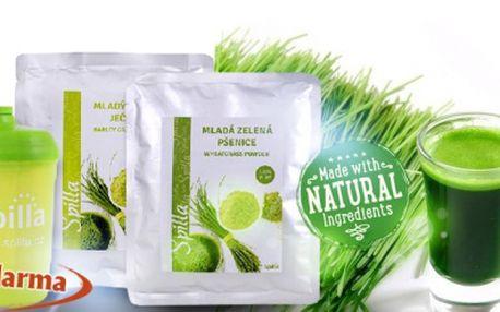 Nejúčinnější přírodní antioxidanty! Balení ZELENÉ MLADÉ PŠENICE + ZELENÉHO MLADÉHO JEČMENE za 449 Kč! Jako dárek STYLOVÝ SHAKER ZDARMA! POŠTOVNÉ také GRÁTIS!