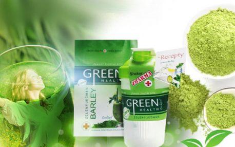 Zelený ječmen GREEN HEALTH - 250g prášku + SHAKER jen za 269 Kč VČETNĚ POŠTOVNÉHO! 100% čistý přírodní produkt! Objevte sílu vitamínů a enzymů prospívajících našemu tělu! Maximálně vstřebatelný!