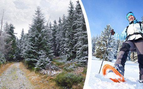 Podzim a zima v Krkonoších - pobyt na 3 až 7 dní pro 4 osoby. Zapůjčení 4 párů sněžnic zdarma a sleva na další pobyt.