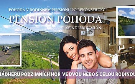 Podzimní dovolená ve Špindlu pro 2 osoby na 4 dny....