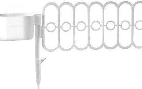 E-Coreco Plůtek Fence s květníkem, set 3 x 3,5 m, bílý