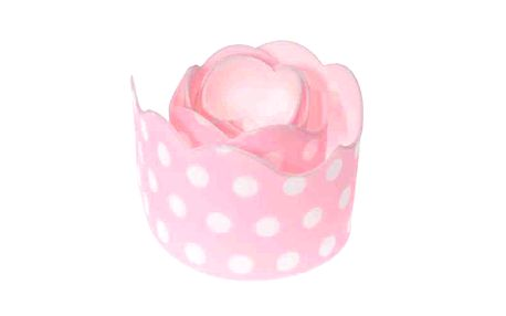 Cukrová páska růžová s puntíky