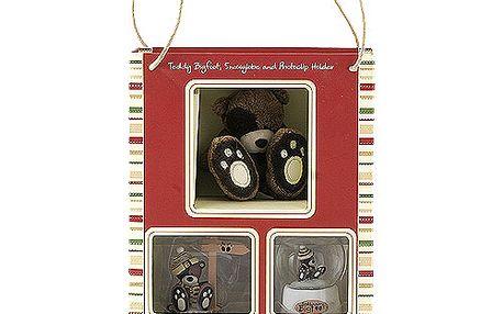 Teddy Big Foot Dárkový set Teddy Bigfoot Dárkový set fotostojánek, těžítko, medvídek 7cm, TBF
