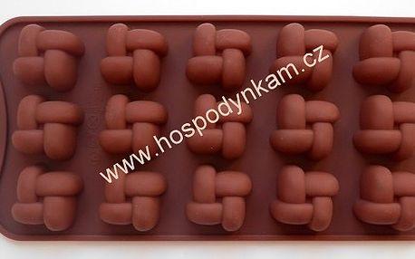 Silikonová forma na čokoládu pletýnka