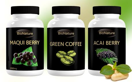 Hubnoucí tablety Acai Berry, Maqui Berry nebo Green Coffee