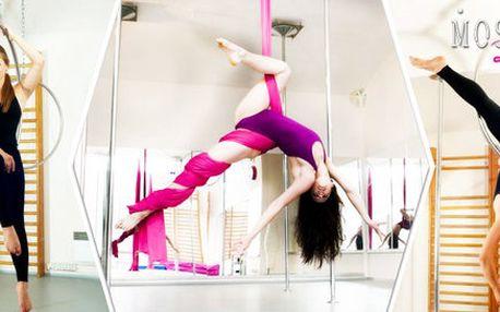 Akrobatické cvičení na kruzích a šálách