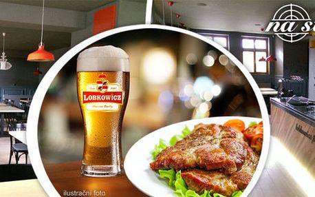 2 piva Lobkowicz, uzená krkovice a další dobroty