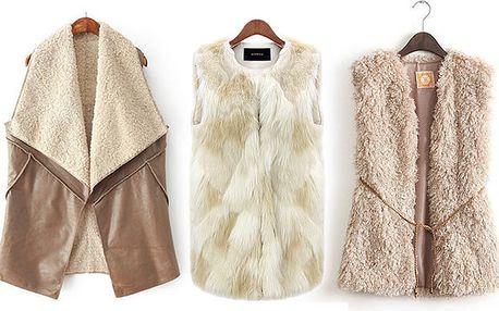Módní dámské vesty různých stylů a barev