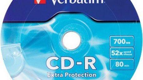 Verbatim CD 700MB WRAP PROTECTION 10ks (43725) - Možnost vrácení zboží do 15.1.2016