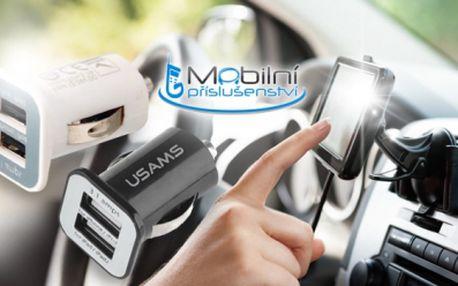 ZÁKLADNÍ VYBAVENÍ ŘIDIČE! Univerzální dualní autodobíječ USB 3,1A jen za 129 Kč včetně poštovného!