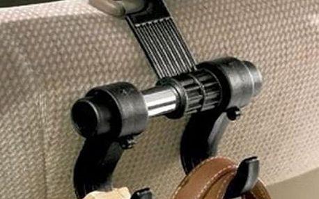 Multifunkční držák s háky na sedadlo