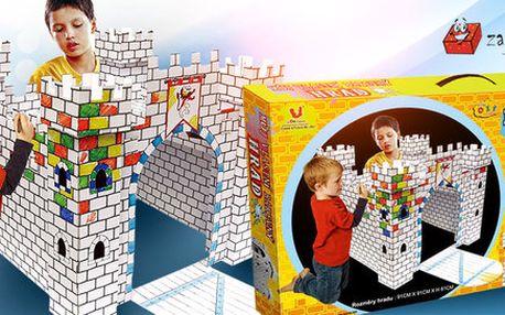 Hrad v podobě 3D omalovánky