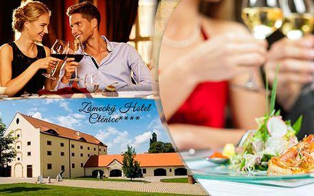 Zámecký pobyt v Hotelu Ctěnice s romantickou 4chodovou večeří a Garra Ruffa terapií