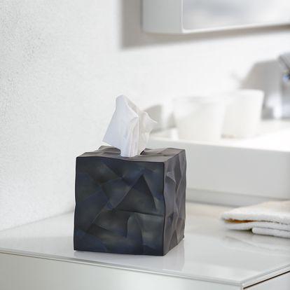 Zmačkaný box na kapesníčky Wipy Cube Black