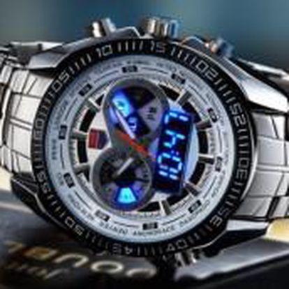 Pánské nerezové Analog-LED hodinky TVG
