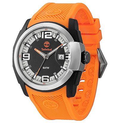 Pánské hodinky s oranžovým gumovým řemínkem Timberland