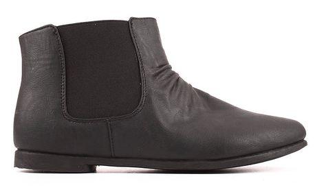 Dámské černé kotníčkové chelsea boty Spot On