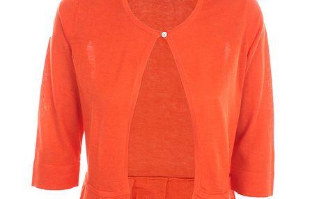 Dámský sytě oranžový svetřík Nougat London