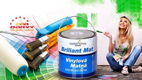 Vinylová vodouředitelná matná interiérová barva 5l! Na výběr ze 3 cenových tříd barev!