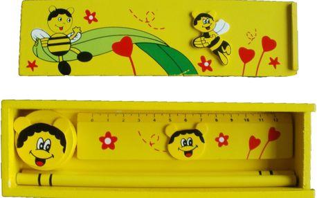 Dřevěný penál - Včelky