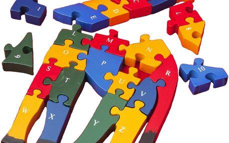 Puzzle Žirafa s písmeny