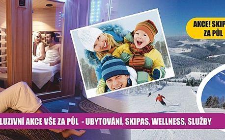 SKI&STAY! 4 DNY s polopenzí a skipasem, wellness z...