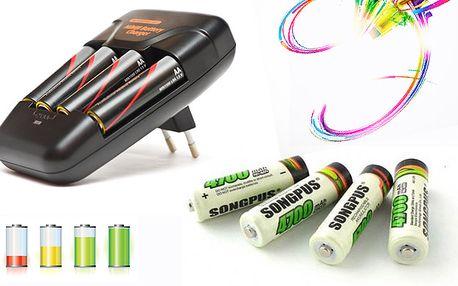 Nabíjecí tužkové baterie AA za nejnižší cenu i s poštovným