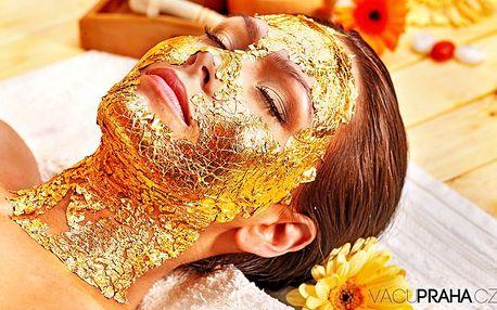 Kosmetické liftingové ošetření pleti s aplikací zlaté masky v pražském studiu VacuPraha