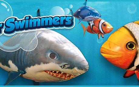 Skvělá a zábavná létající ryba Airswimmer. Zaručeně originální létající ryba na dálkové ovládání. V nabídce i varianta včetně bomby s 250 l helia! Oblíbená high-tech hračka poslední doby. Certifikáty originality a kvality.